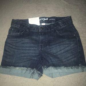 Dark Washed Shorts